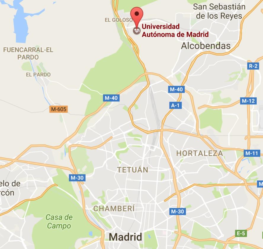 Cómo llegar a la Universidad Autónoma de Madrid